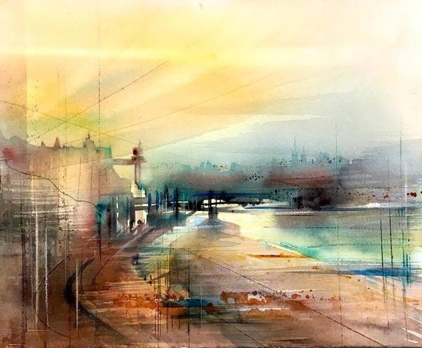 Вдохновленная живописными сценами Стокгольма, шведская художница Гуннель Мохейм запечатлела свой родной город в красочных акварельных картинах