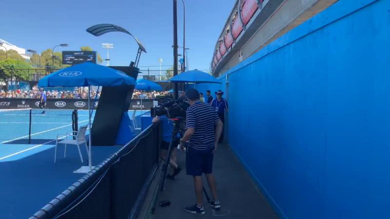 Тренировка Роджера Федерера на Australian Open