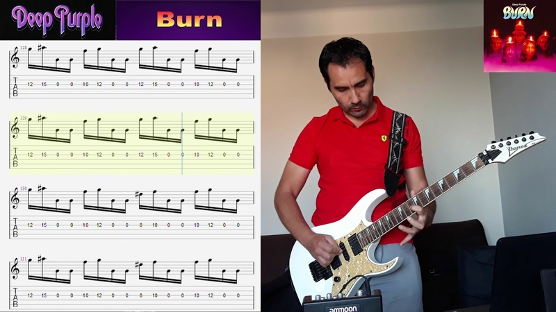 Deep Purple Burn Cover Claudio Carvajal w Free Tabs