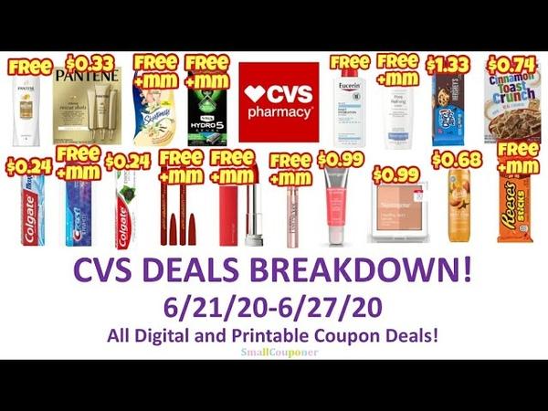 CVS Deals Breakdown 6 21 20 6 27 20 All Digital and Printable Deals