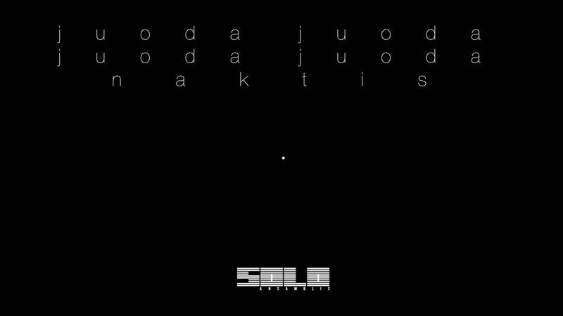 Solo Ansamblis - Juoda Juoda Juoda Juoda Naktis (radijo versija)