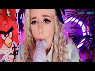 FIRST Double BLOWJOB For Alice AliceBong [Teen Webcam Porn Cosplay Amateur Solo All sex Petite Dildo Anal]