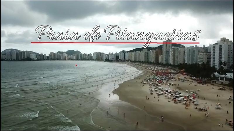Imagens Aéreas Impressionantes Drone Sobrevoando Praia de Pitangueiras Guarujá SP
