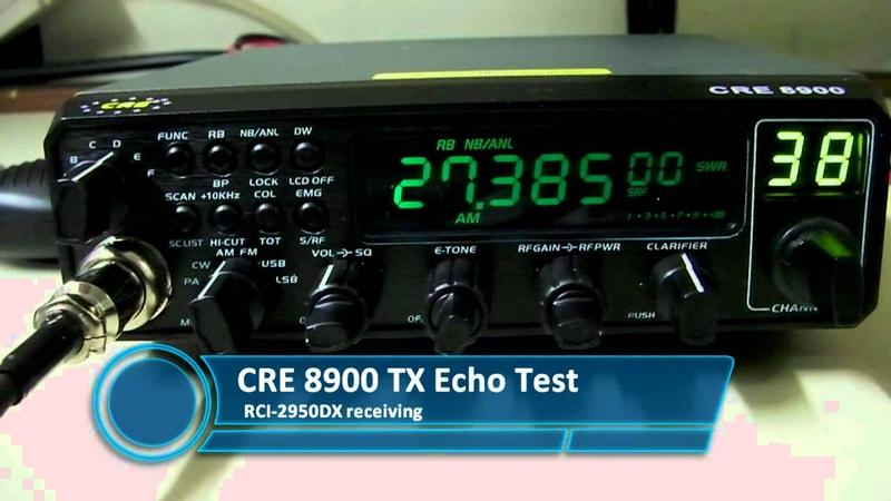 CRE 8900 On Air TX Audio Test AM SSB