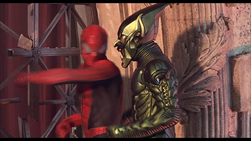 1 Человек Паук против Зеленого Гоблина Первая битва Человек Паук 2002