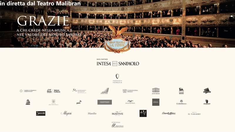 Orchestra Coro del Teatro La Fenice Carlo Vistoli Claudo Marino Moretti Vasks Bernstein Venice 28 02 2021