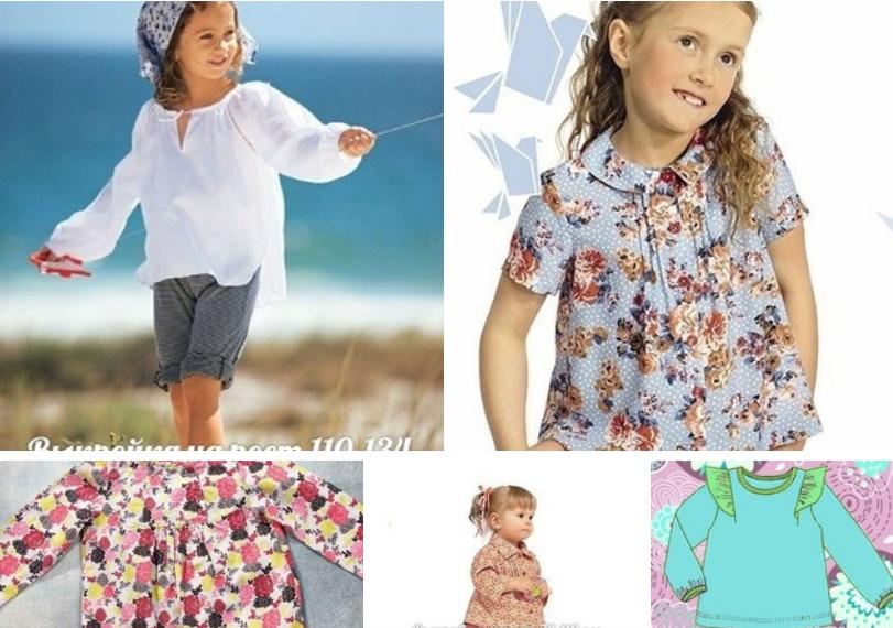 Блузки для девочек - подборка выкроек