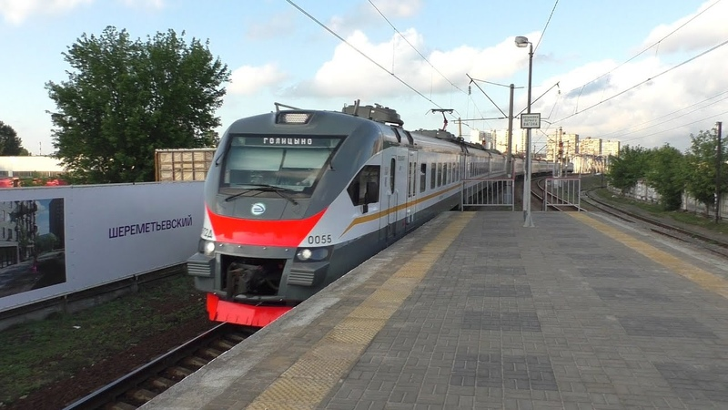 Электропоезд ЭП2Д-0055 ЦППК платформа Станколит