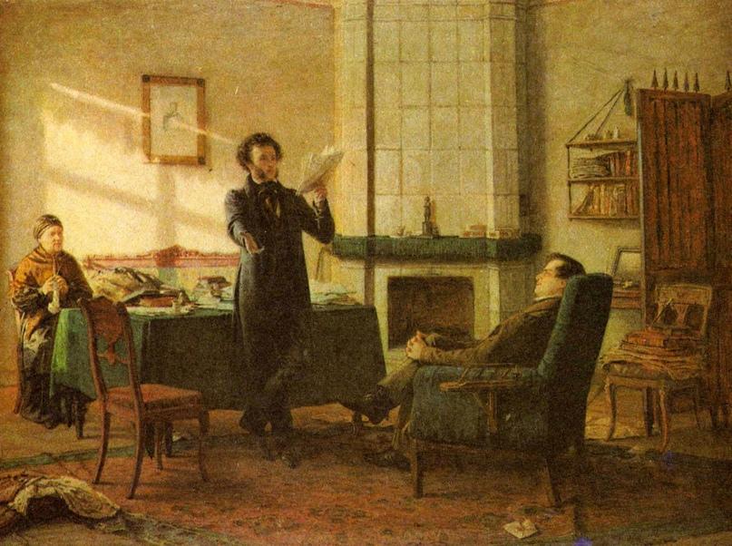 Николай Ге «Пушкин в селе Михайловском» 1875 г.
