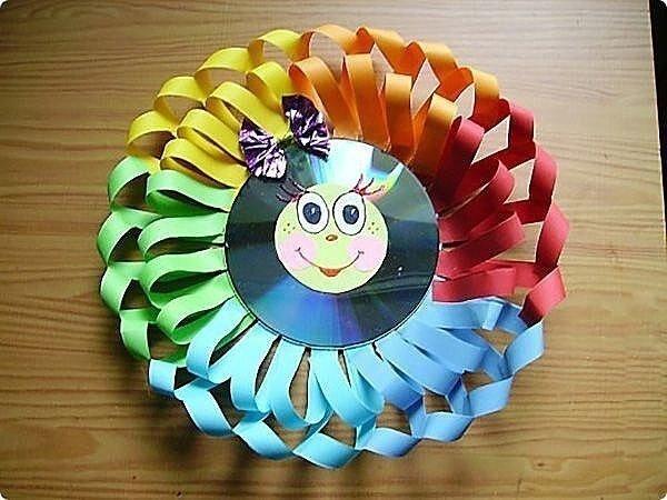 Поделки из дисков. Мастерим с детками.