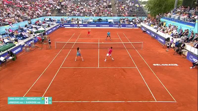 Jelena Jankovic vs Novak Djokovic Hot Shot Adria Tour