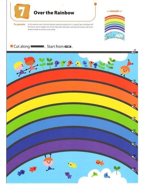 РАЗВИВАЮЩИЕ ЗАНЯТИЯ ПОСЛУШНЫЕ НОЖНИЦЫ Предложите ребенку разрезать картинку по линии со стрелочкой!