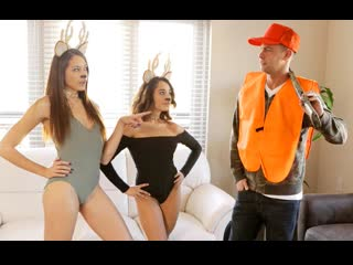 [MyFamilyPies] Avi Love, Isabella Nice - Pussy Hunter [2019, Teen, Brunette, Creampie, Threesome, Hardcore, All Sex, 1080p HD]