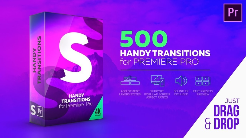 500 Handy Transitions for Premiere Pro