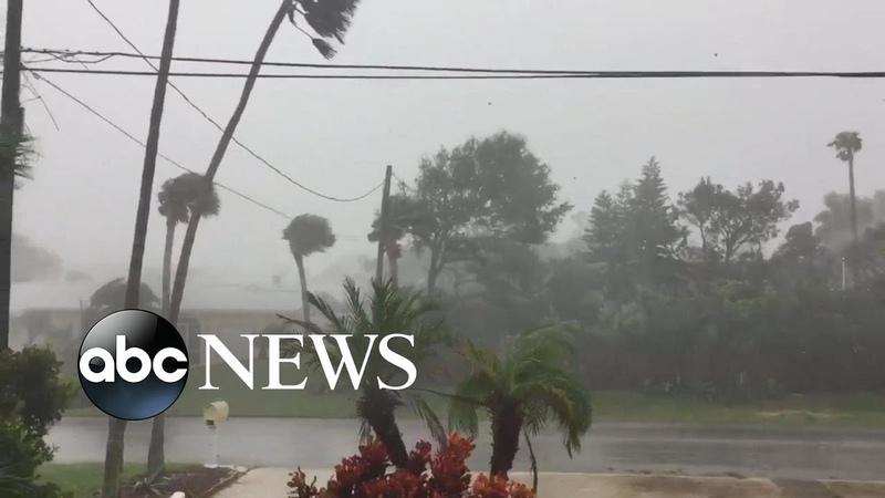 Strong Winds From Hurricane Matthew Hit Daytona Beach