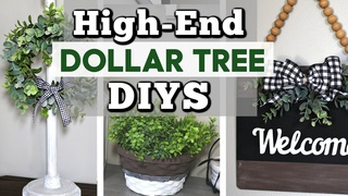 High-End Dollar Tree Decor Ideas You Can Make! | DIY Dollar Tree Farmhouse Decor | Krafts by Katelyn