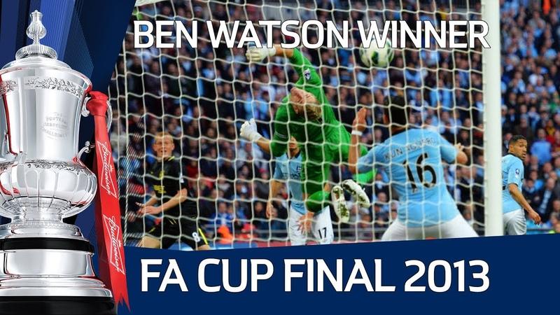 Ben Watsons winning goal for Wigan vs Manchester City, FA Cup Final 2013