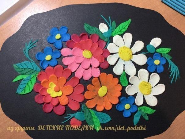 ПЛАСТИЛИНОВАЯ КАРТИНА - Жостовский поднос Пластилиновые картины достаточно эффектно выглядят из-за объема, дети с удовольствием работают с пластилином создавая свои шедевры.Принцип создания