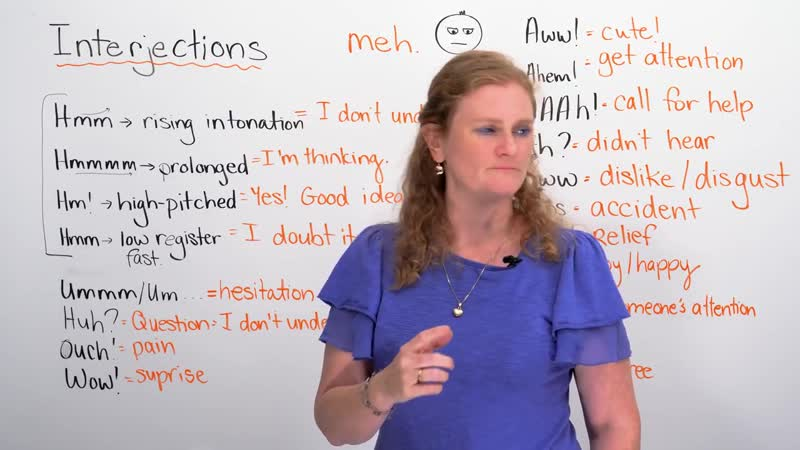 English Vocabulary hmm huh ouch wow aww uhh… interjections