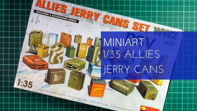 Miniart 1/35 Allies Jerry Cans Set WW2 (35587) Review
