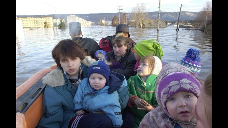 Город Ленск 2001 год. Документальный фильм о наводнении. РС (Якутия).