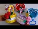 DIY Lembrancinha Dia Das Mães Cestinha Trançada