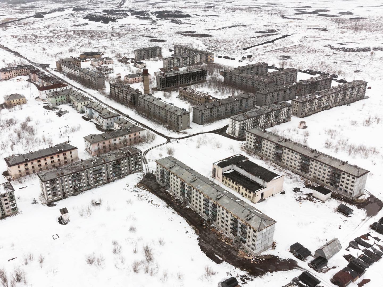 Воркута, заброшенный микрорайон Советский - Фото