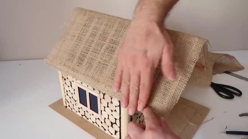 How to Make House from Broom Handle Fırça Sapından Ev Nasıl Yapılır