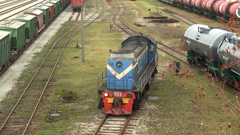 Тепловоз ТЭМ2 552 в ст Валга TEM2 552 at Valga station