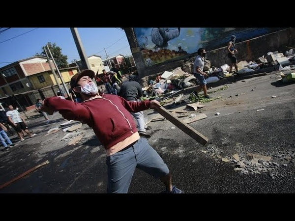Wild protests break out in Chile over Covid 19 lockdown food shortages