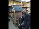 Как сделать деревянную коптильню.Обучающий фильм.