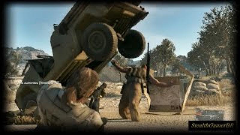 Metal Gear Solid V The Phantom Pain Stealth Kills (Ambush,C4Cardboard Box,Funny Kill)