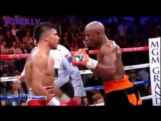 Мейвезер - Ортис / Floyd Mayweather Jr vs Victor Ortiz (highlights)