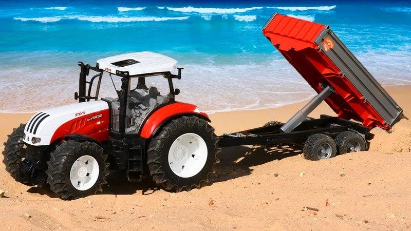 Мультик про Трактор на Работе в Городке Машинок! Новые серии для детей