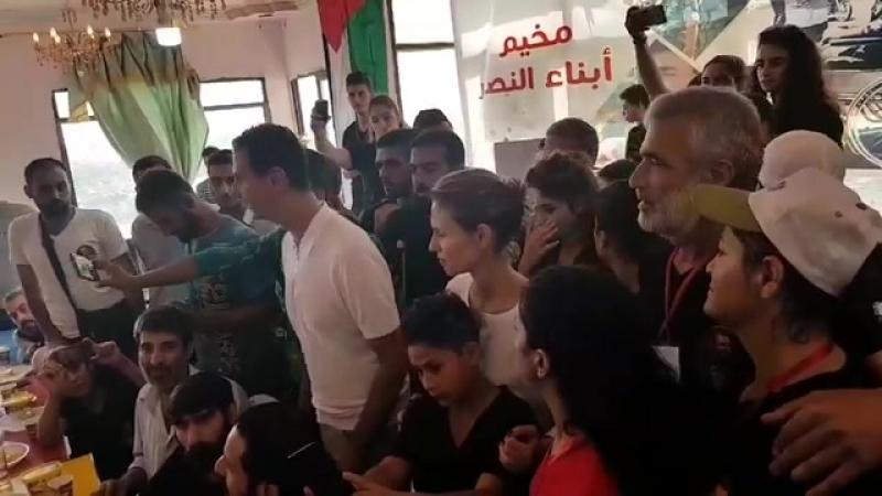 Башар Аль-Асад и Асма Аль-Асад посетили сыновей и дочерей погибших военнослужащих и раненых солдат в лагере отдыха Дети Победы