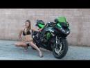 Sexy Girl in Black Bikini Modeling For Kawasaki Ninja ZX6R PhotoShoot. Canon 60D Motorcycle VLOG