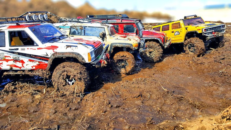 RC Trucks MUD Adventure Axial SCX10 ii, Traxxas TRX4… — Extreme Pictures
