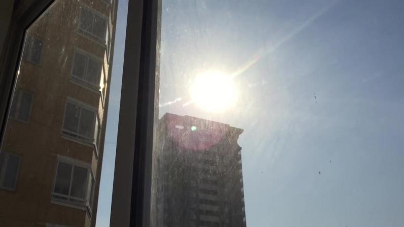 Очень красивое солнечное затмение