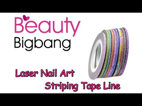 Beauty Bigbang Review✔Laser Striping Tape Line Nail Art (BeautyIdeas Nail Art)