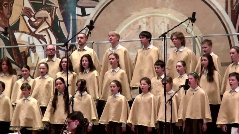 Выступление хора Православной Певческой Гимназии Люблино в Концертном зале ХХС 18 апреля 2017 г.