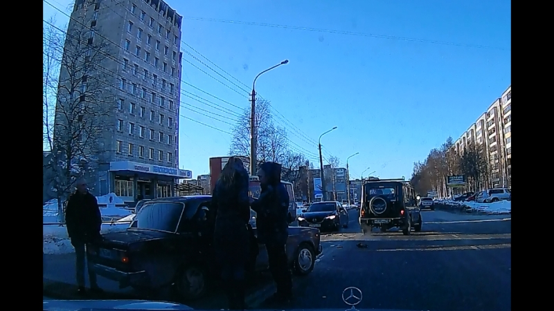 23.03.18. Архангельск. Момент ДТП у Полюса.