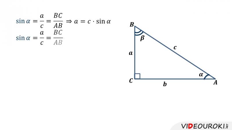 25. Синус, косинус и тангенс острого угла прямоугольного треугольника