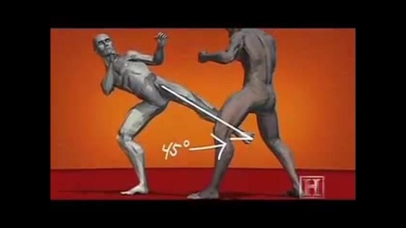 Human Weapon - Karate Inside Leg Kick