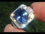 Natural Blue Sapphire &amp Diamond Ring C180