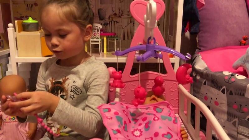 Беби Борн и кроватка для куклы, Baby born and children bed