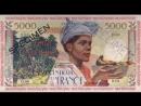 Banconote Martinica La carta moneta della Martinica