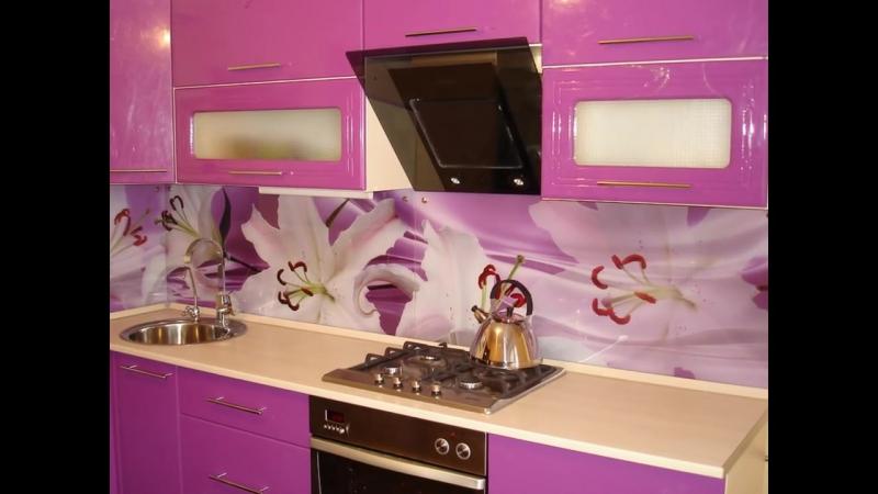 Фартук для кухни из стекла, МДФ, плитки и камня - интересные и красивые примеры
