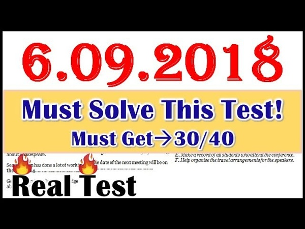 IELTS Listening test 6.09.2018 with ANSWERS 😇 BEST TEST - 2018