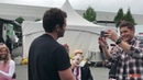 JensenJared filming Misha hits fake!Trump with a pie in the face on set of SPN