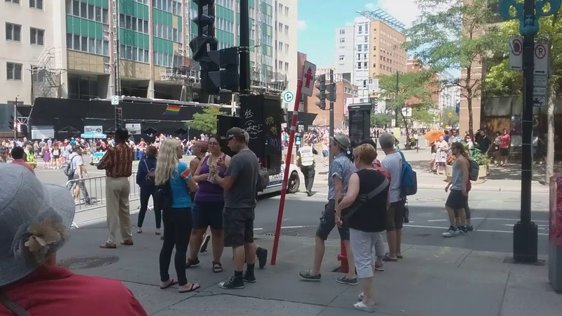 Gay Pride MTL Aug 19 HSS City.. Police Intervention/Search Attempt